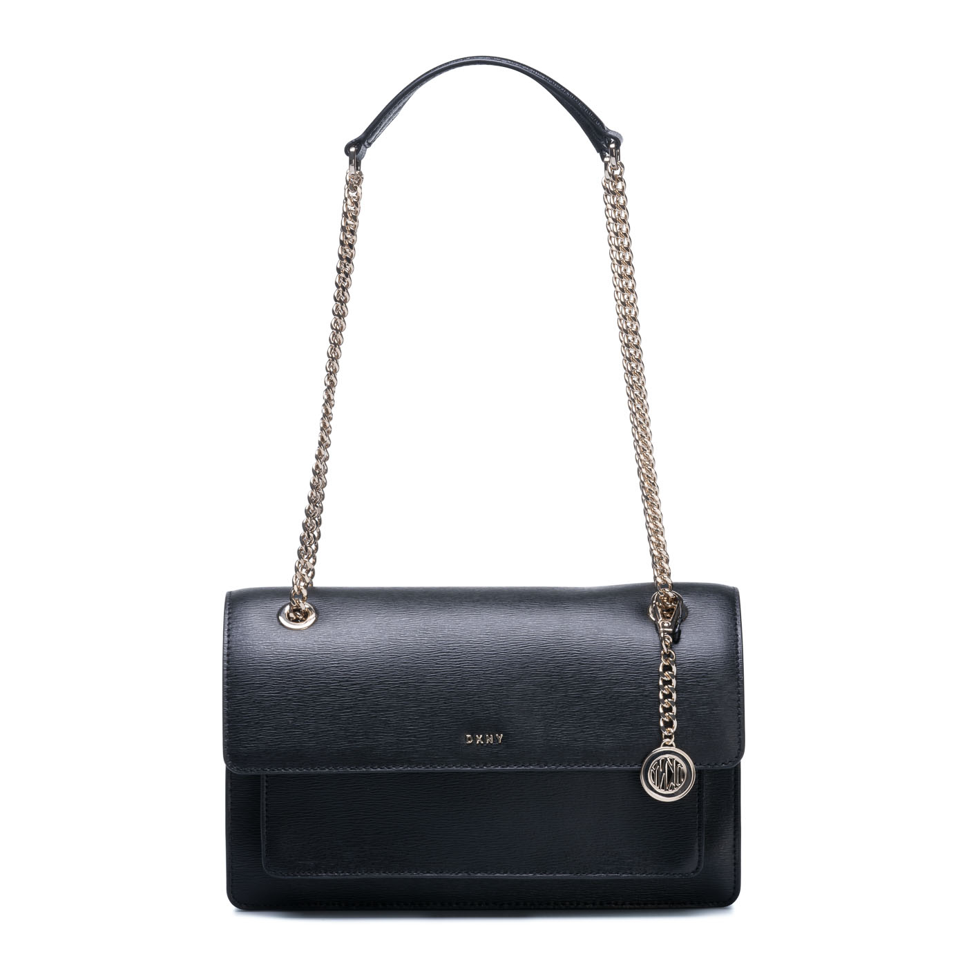 Afbeelding van DKNY Bryant Black Gold coloured Crossbody R81E3287 BGD
