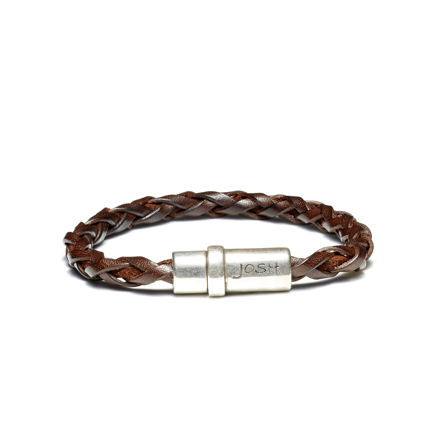 Josh Vintage Brown Armband 09193-BRA-S/BROWN (Lengte: 20.50-22.50 cm)