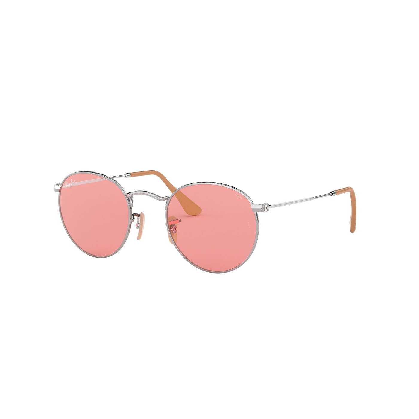 Ray-Ban Round Metal Silver-coloured Zonnebril RB34479065V750