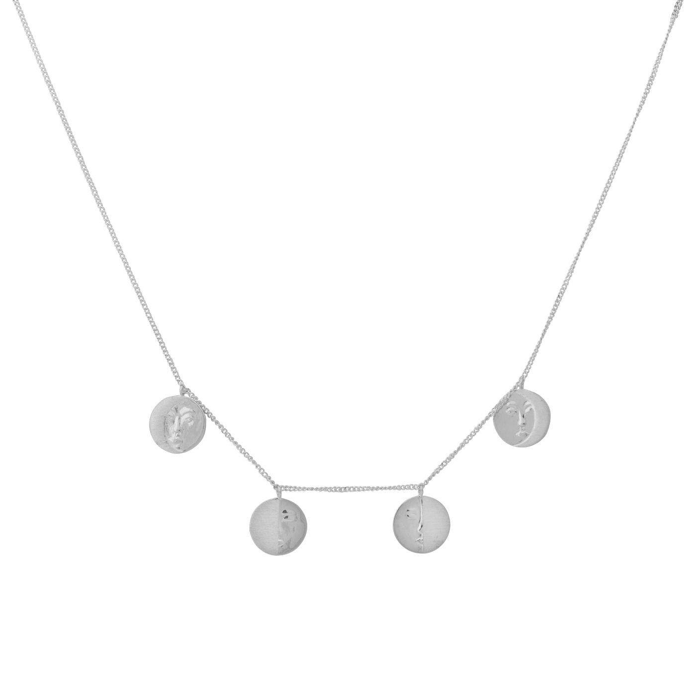 ANNA + NINA 925 Sterling Zilveren Essentials Lunar Ketting 18-2M903005S (Lengte: 42.00 cm)