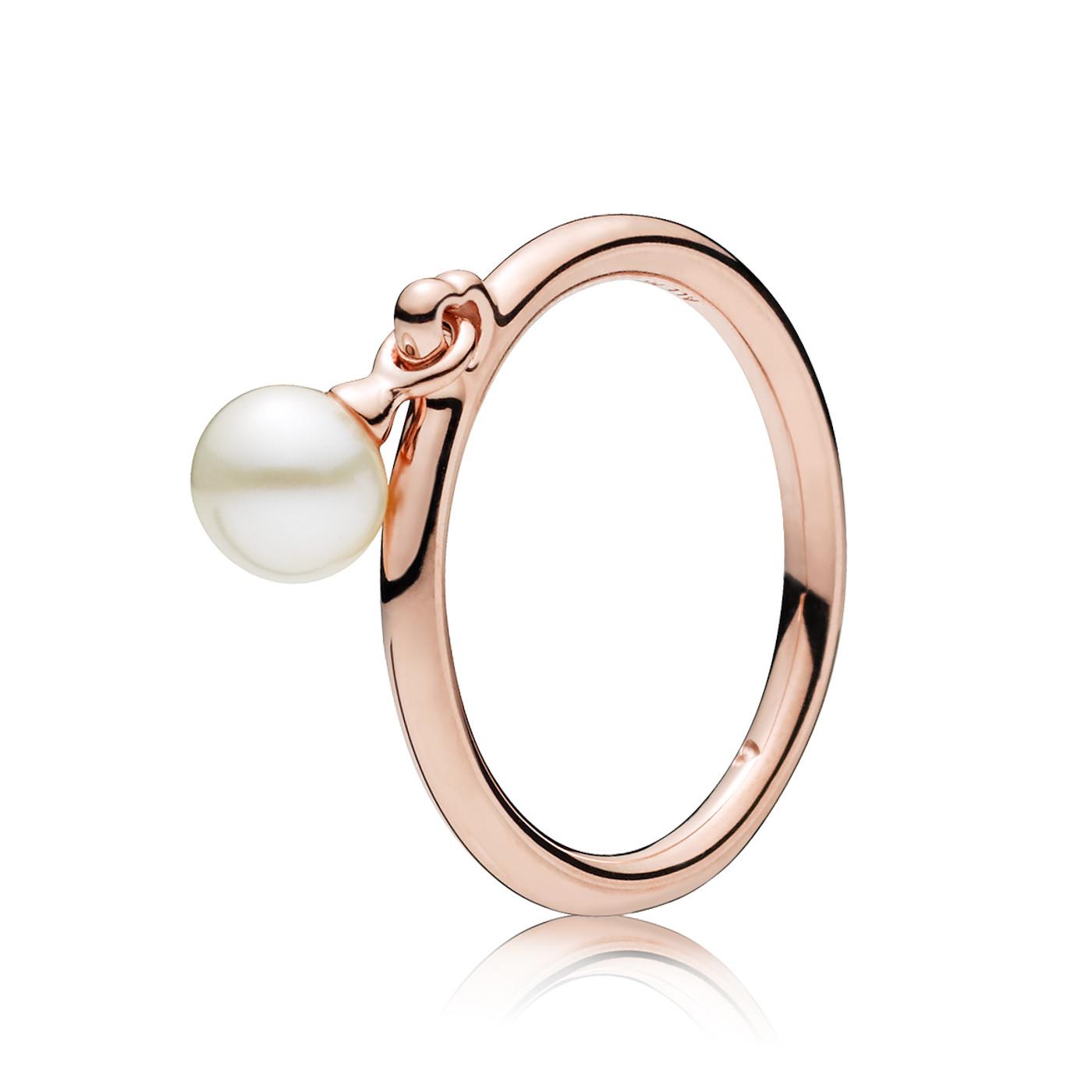 Pandora 925 Sterling Zilveren Freshwater Rosegoudkleurige Ring 187525P