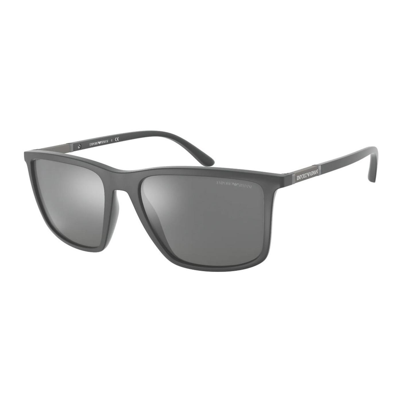 Emporio Armani Matte Grey Zonnebril EA416154376G57