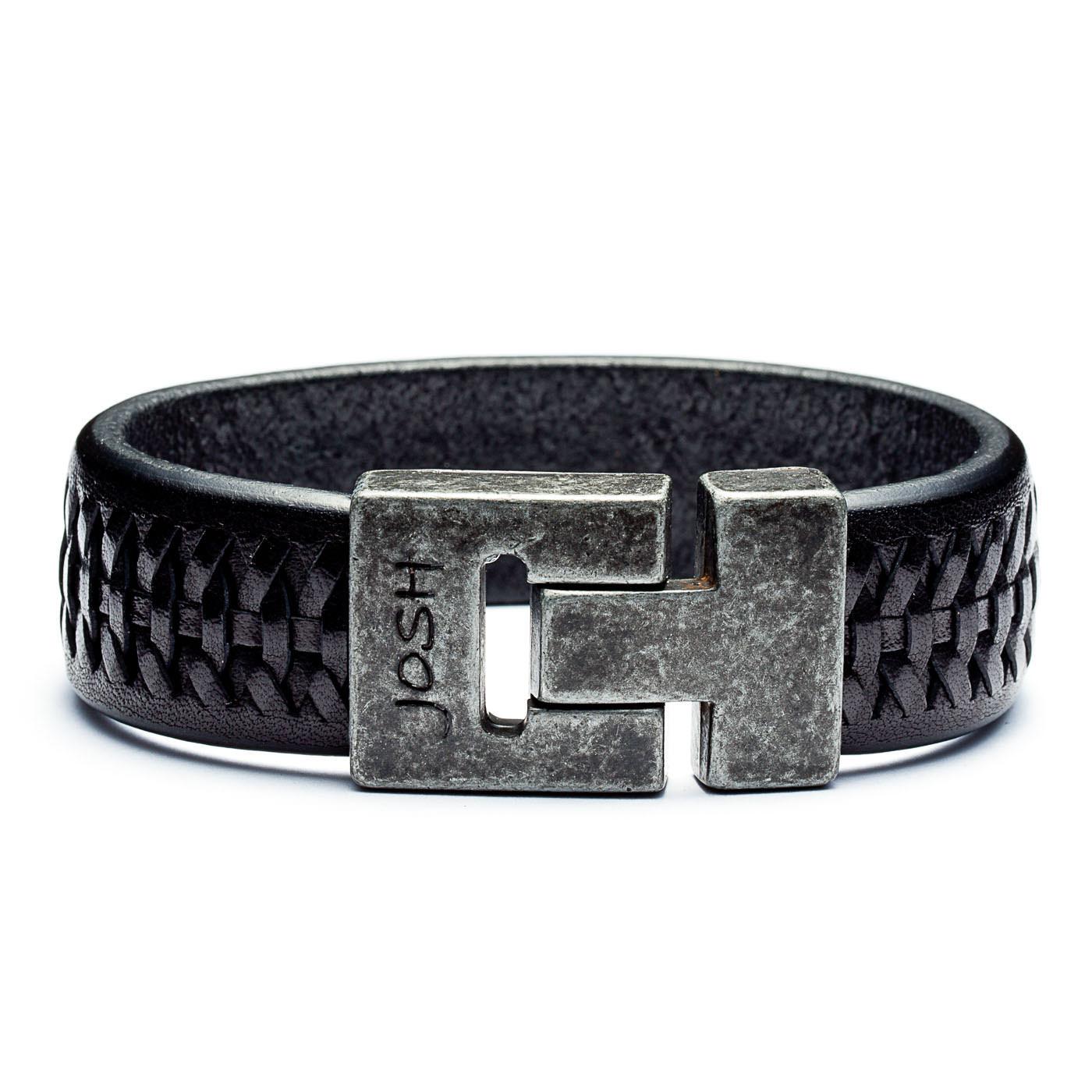 Josh Vintage Black Armband 24536-BRA-VB-BLACK (Lengte: 20-22 cm)