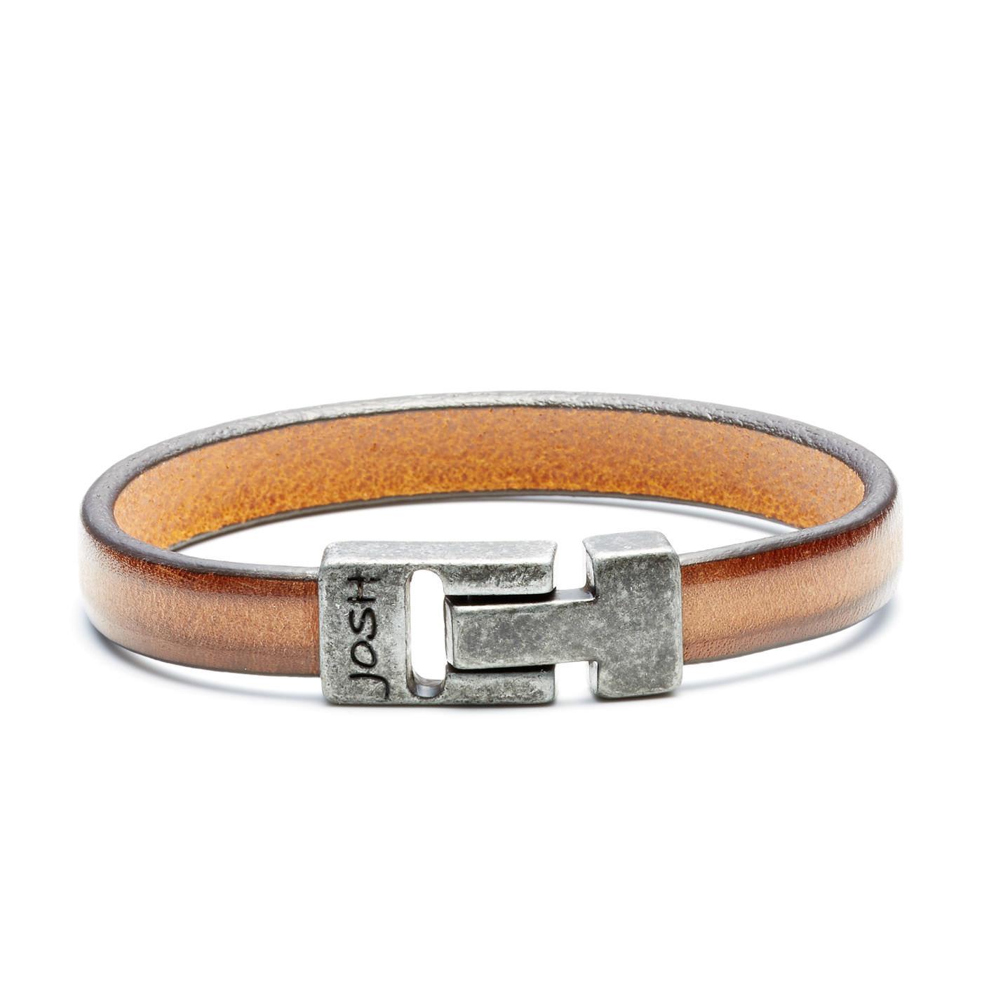 Josh Vintage Camel Armband 24797-BRA-VB/CAMEL (Lengte: 20.50-22.50 cm)