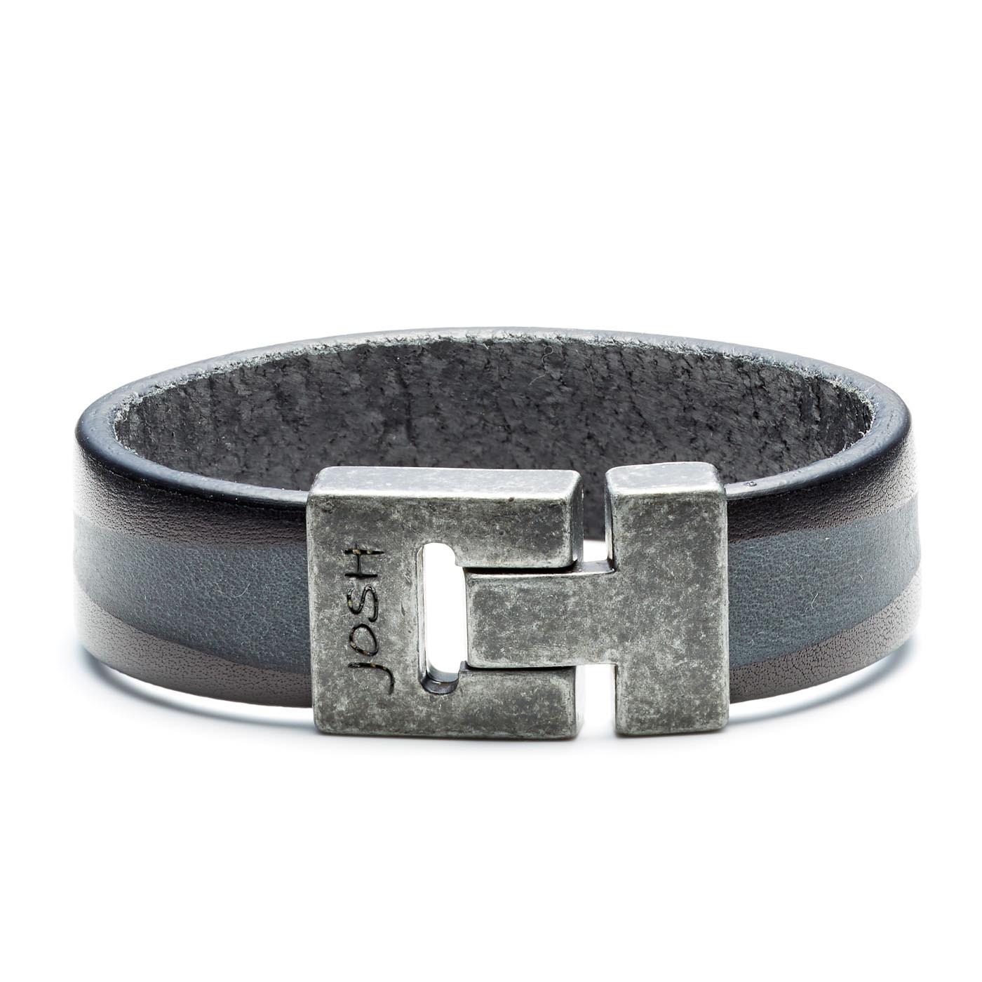 Josh Vintage Black Armband 24799-BRA-VB/BLACK (Lengte: 20.50-22.50 cm)