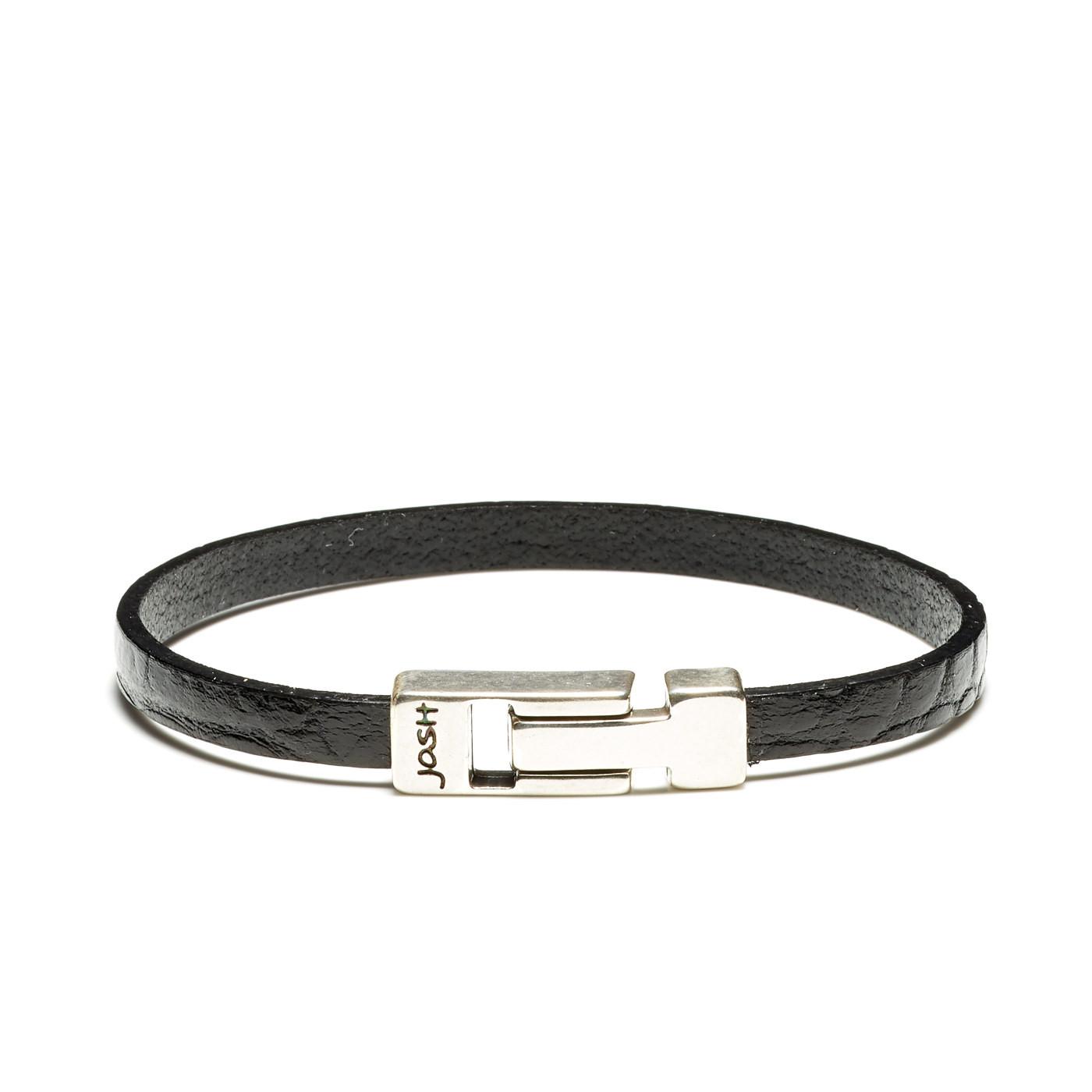 Josh Black Armband 24813-BRA-S/BLACK (Lengte: 20.50-22.50 cm)