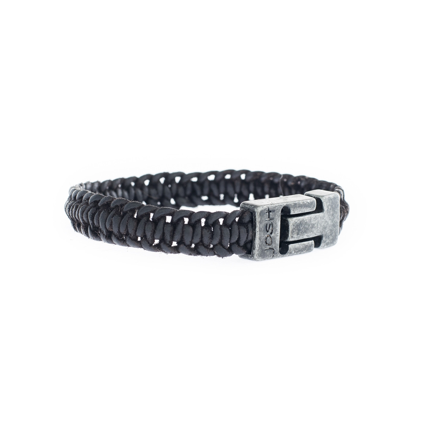 Josh Vintage Black Armband 24829-VB-BLACK (Lengte: 20.50-22.50 cm)