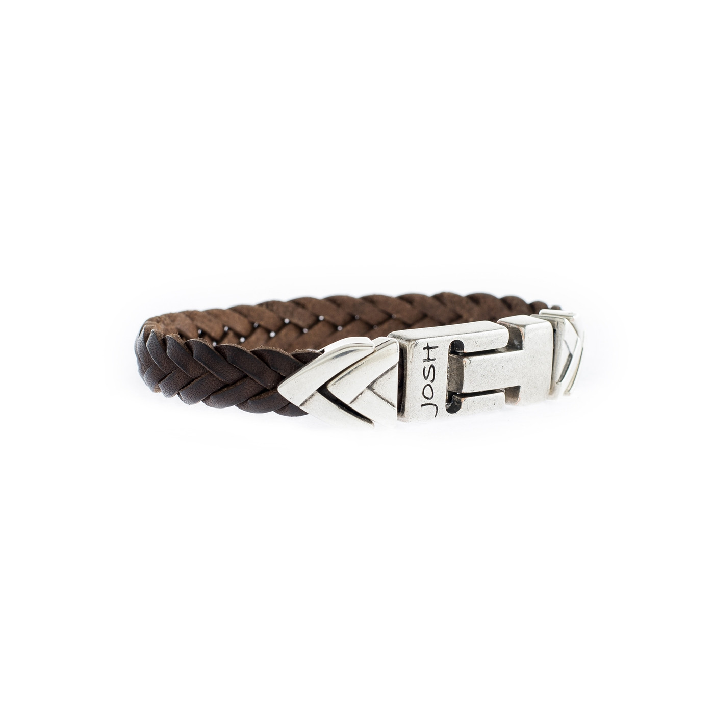 Josh Brown Armband 24837-S-BROWN (Lengte: 20.00-22.00 cm)