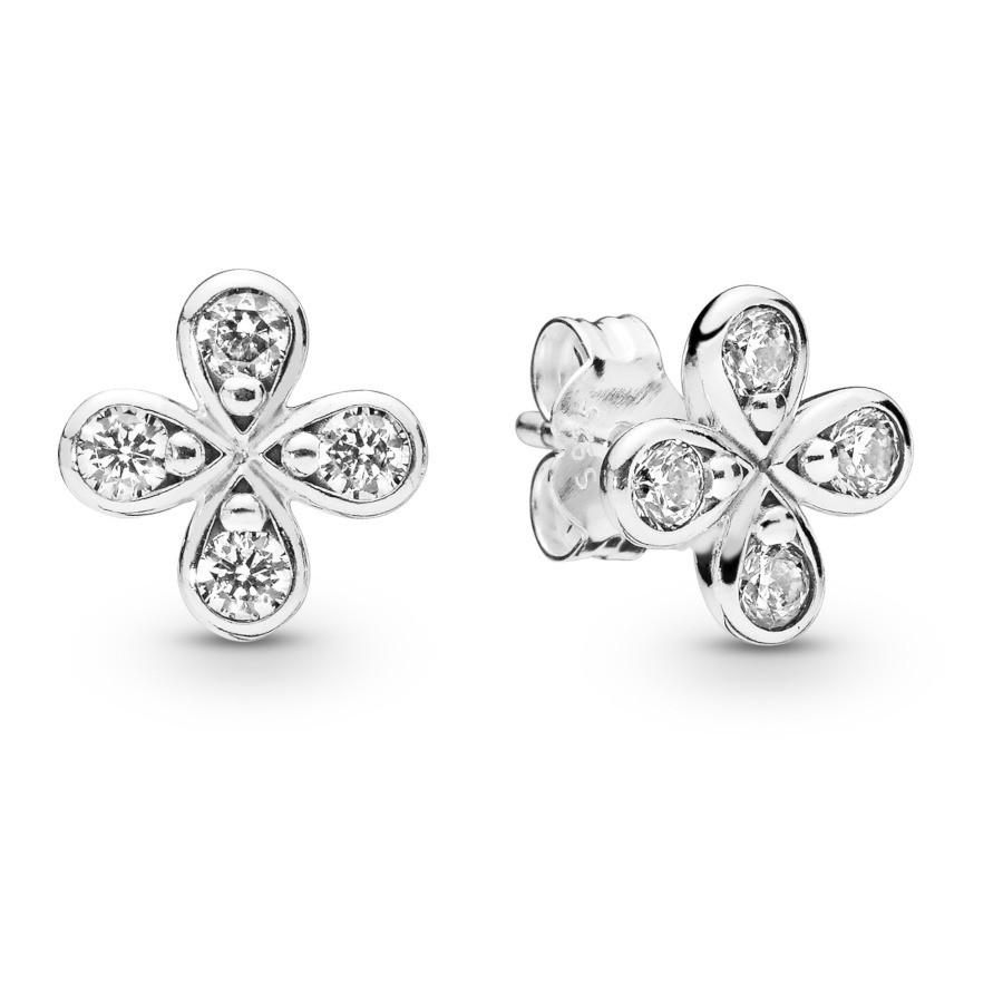 Pandora Stories 925 Sterling Zilveren Flower Oorbellen 297968CZ