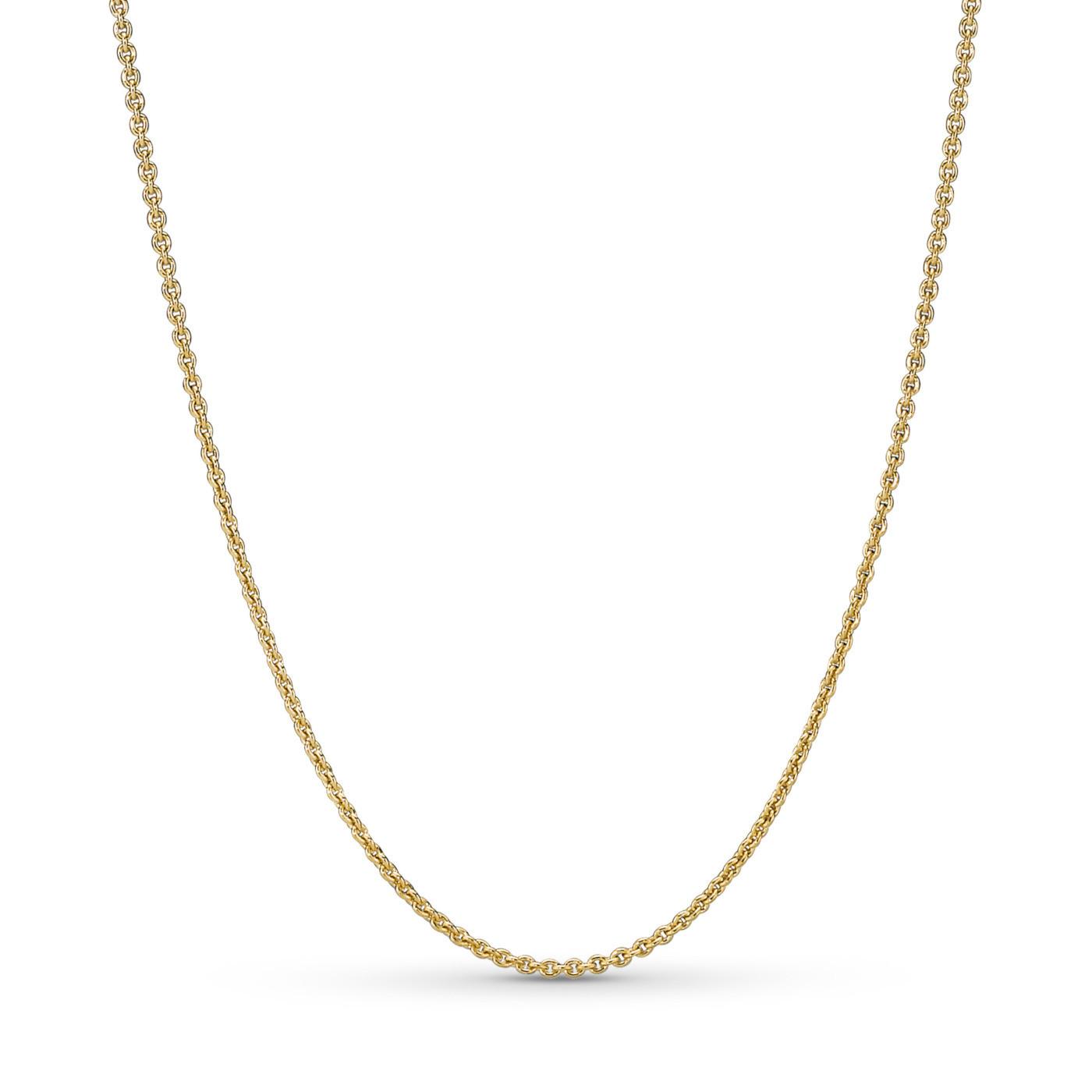 Pandora Stories 925 Sterling Zilveren Rosegoudkleurige Shine Ketting 367991-45 (Lengte: 45.00 cm)
