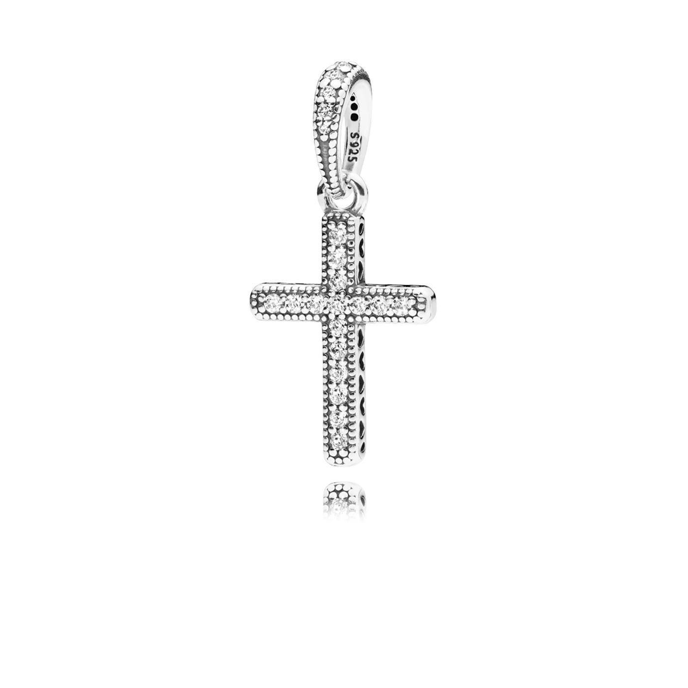 Pandora 925 Sterling Zilveren Cross Silver Hanger 397571CZ