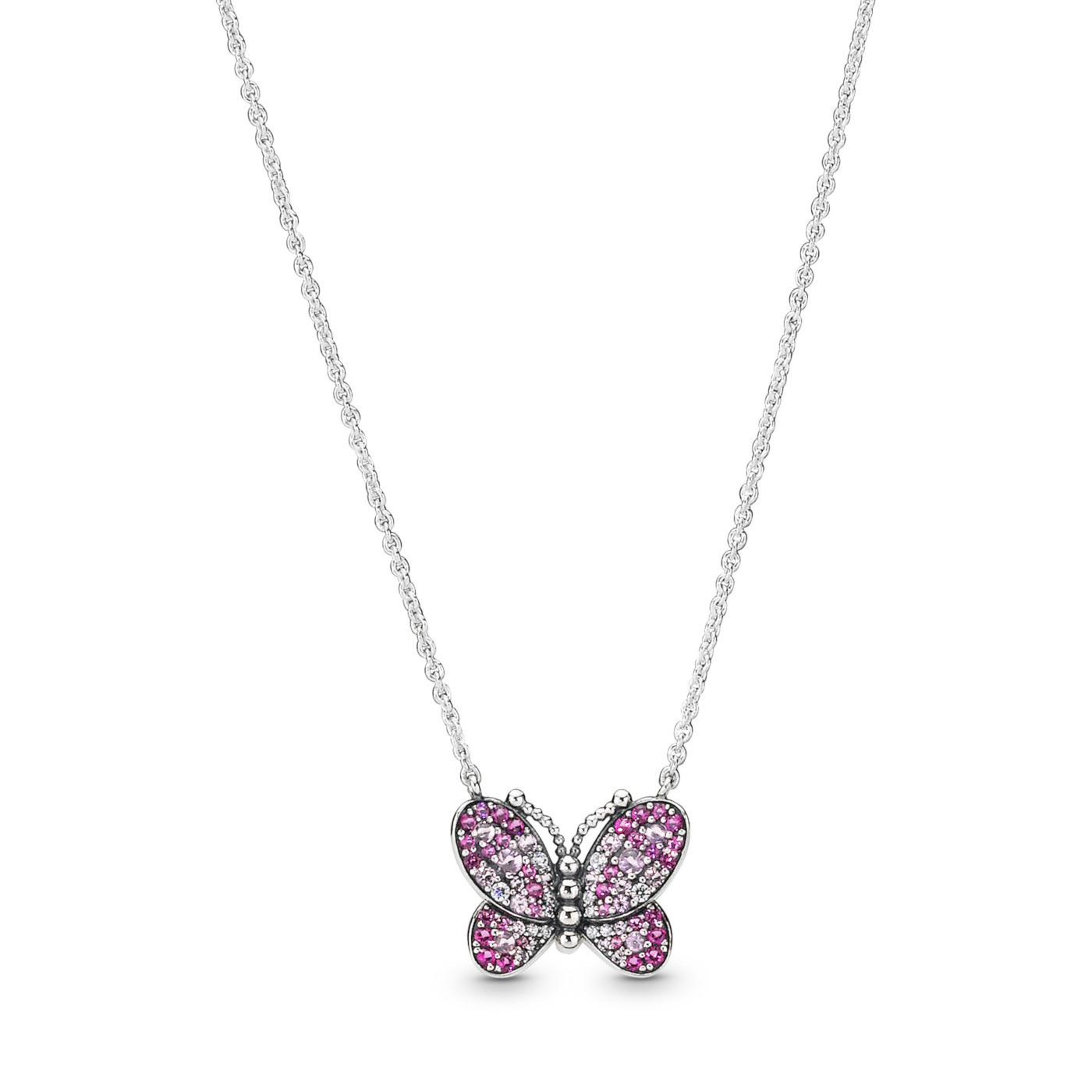Pandora Stories 925 Sterling Zilveren Butterfly Ketting 397931NCCMX-50 (Lengte: 50.00 cm)