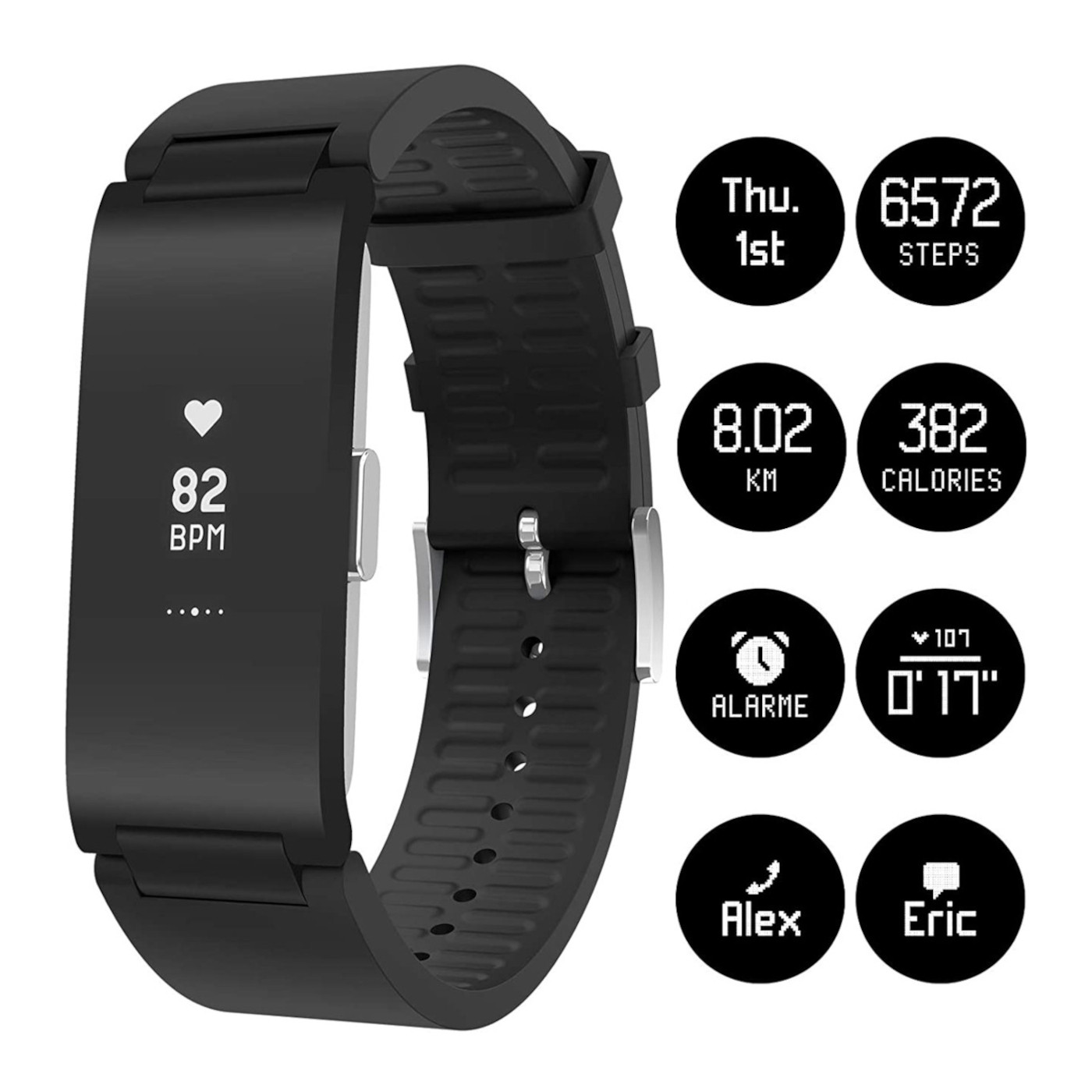 Withings Pulse Hybrid Smartwatch WAM03-Black Mirror-All-Inter