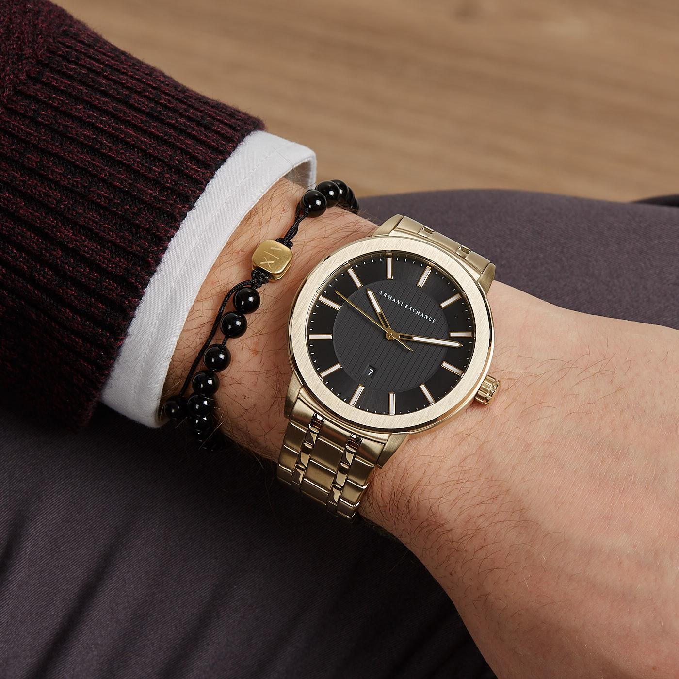 Armani Exchange Maddox Giftset horloge en armband AX7108