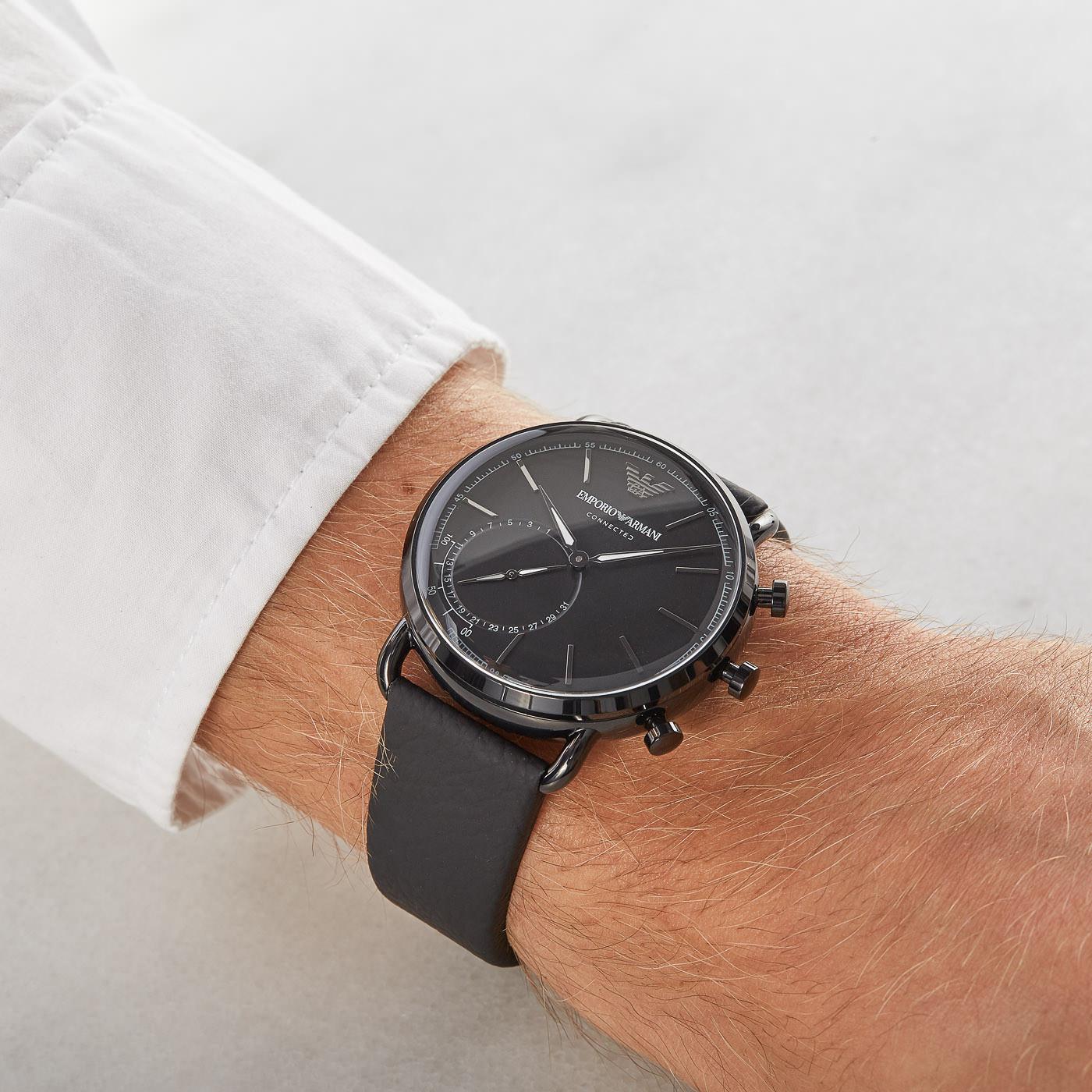 Emporio Armani Connected Aviator Hybrid Smartwatch ART3030