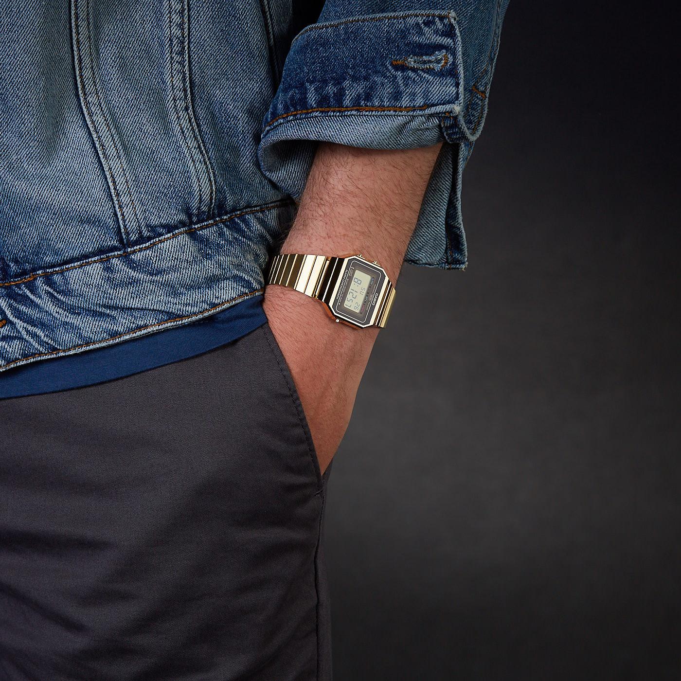 Casio Edgy Horloge A700WEG-9AEF
