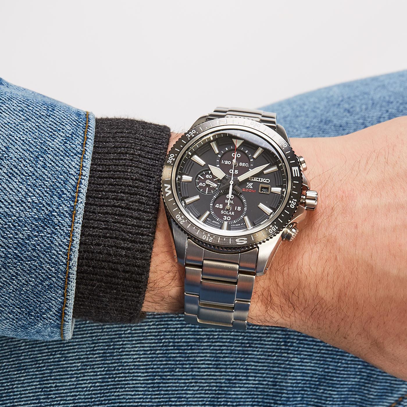 Seiko Prospex Solar Chrono horloge SSC705P1