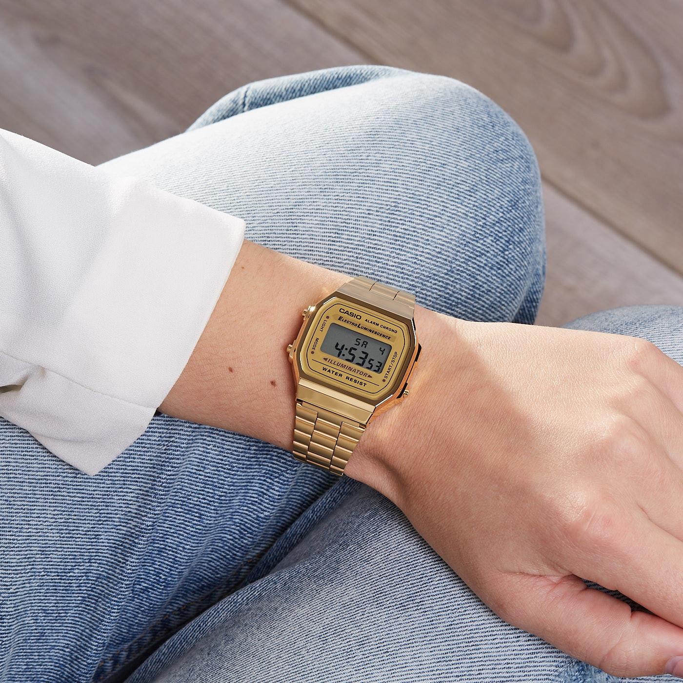 cc70f9aec18 Casio Retro horloge A168WG-9EF