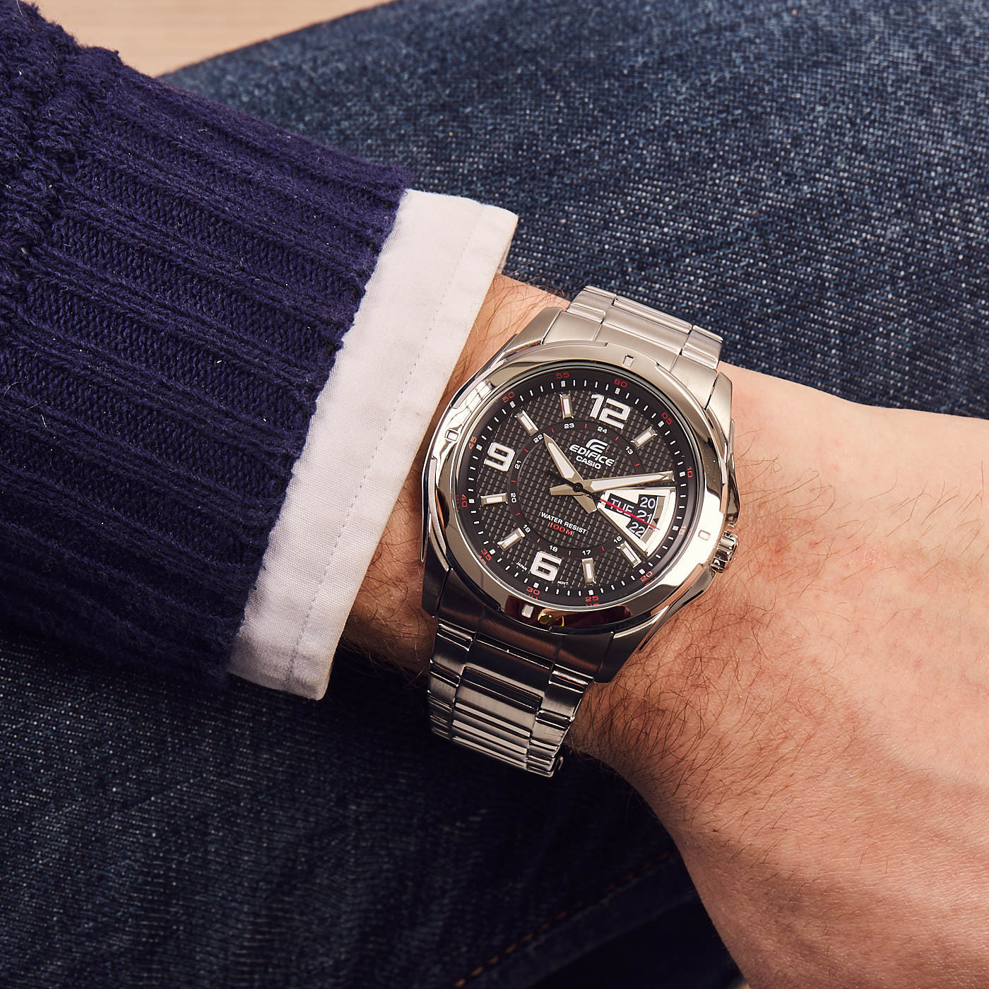 Edifice Classic Solar horloge EF-129D-1AVEF