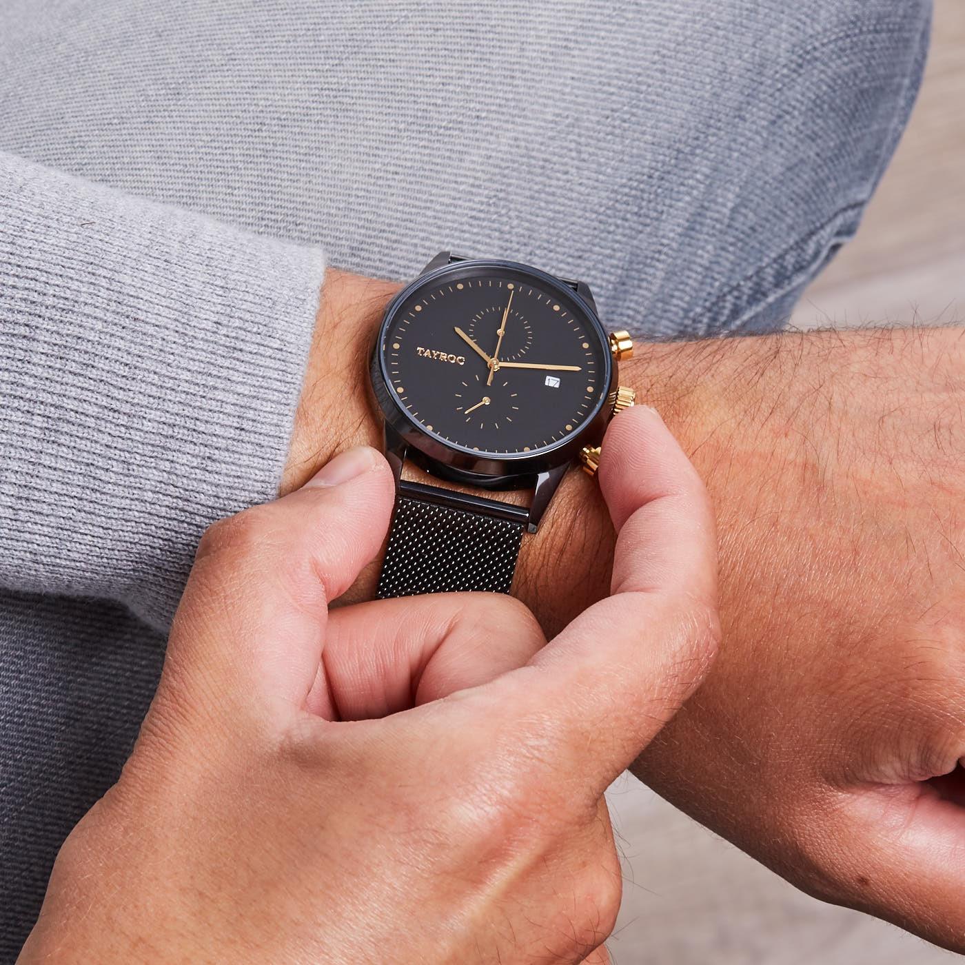 Tayroc Boundless Black Rose Gold horloge TXM087