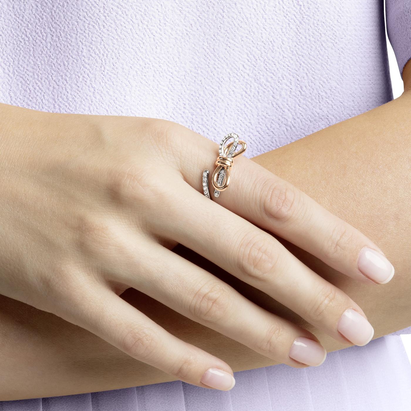 Swarovski Lifelong Bow Ring