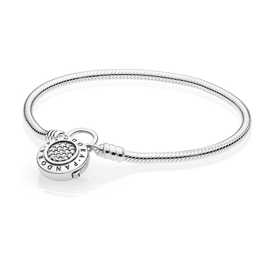 Pandora Moments Smooth Silver Armband 597092CZ (Lengte: 17.00-19.00 cm)