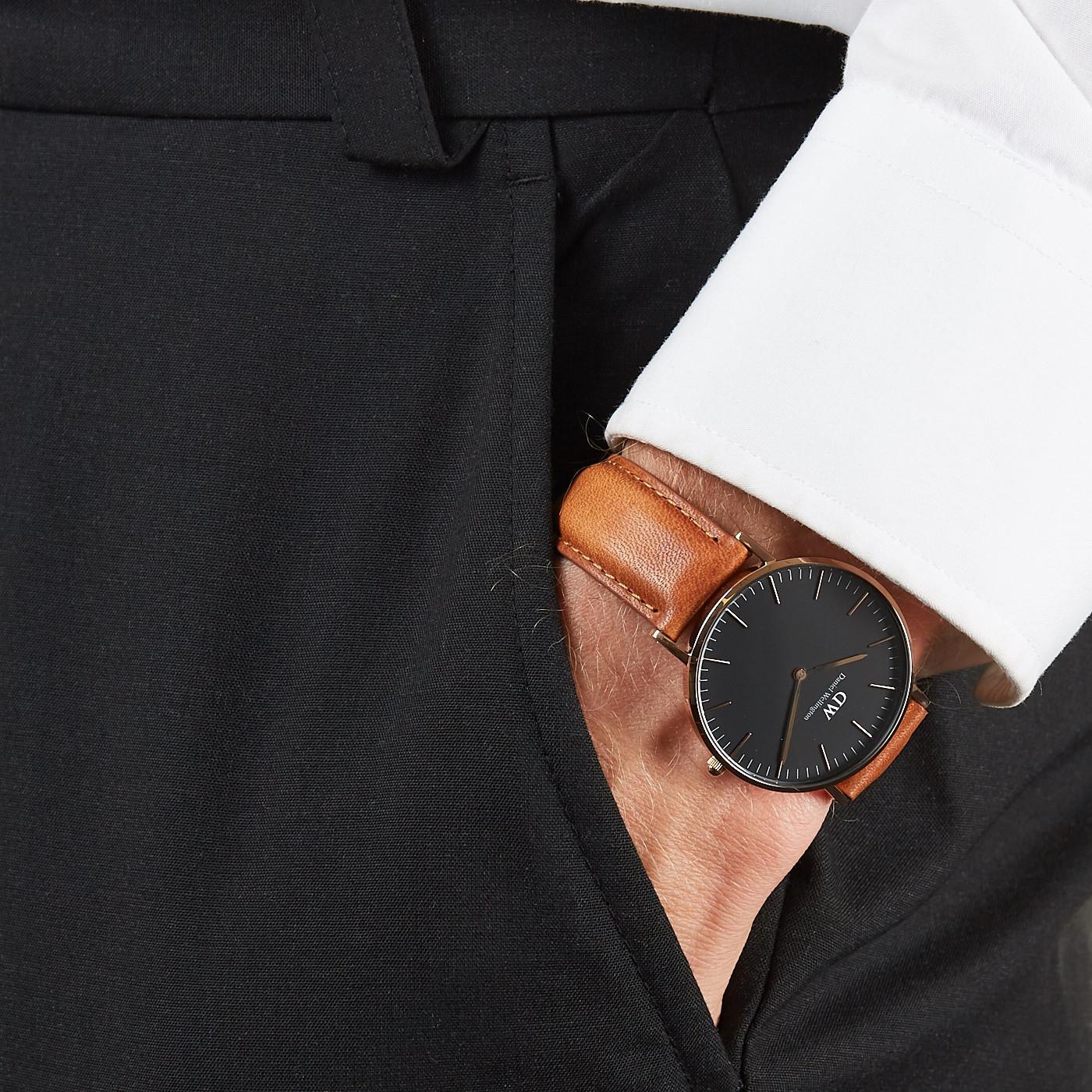 e55465fc898732 Daniel Wellington Classic Black Durham horloge DW00100138 (36 mm)