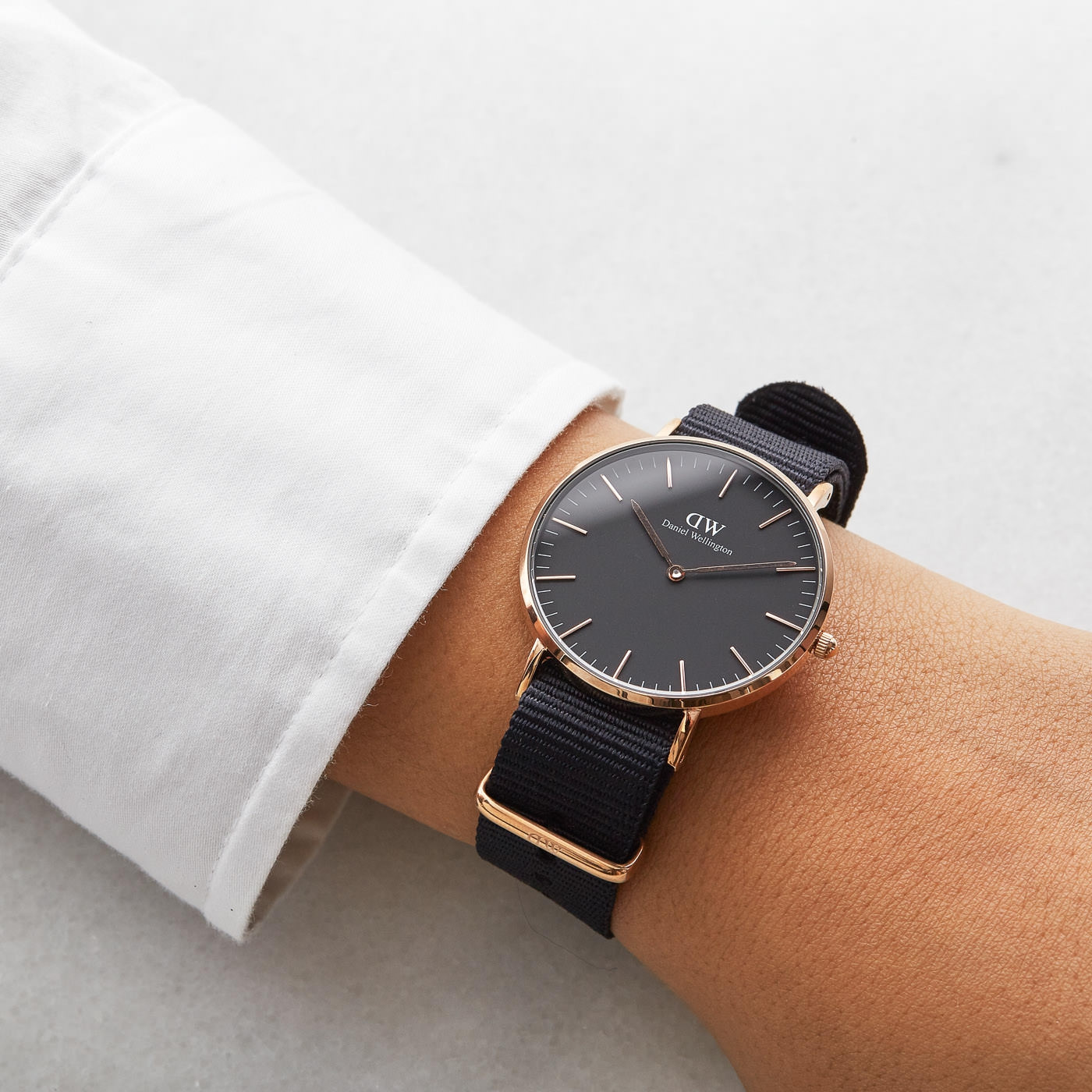 Daniel Wellington Classic Black Cornwall horloge (36 MM) DW00100150