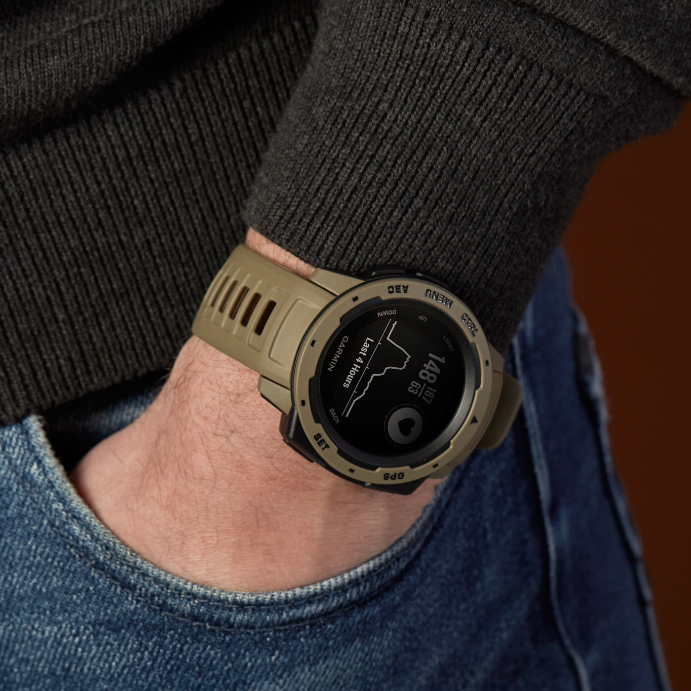 Garmin Instinct Tactical Chrono Smartwatch 010-02064-71