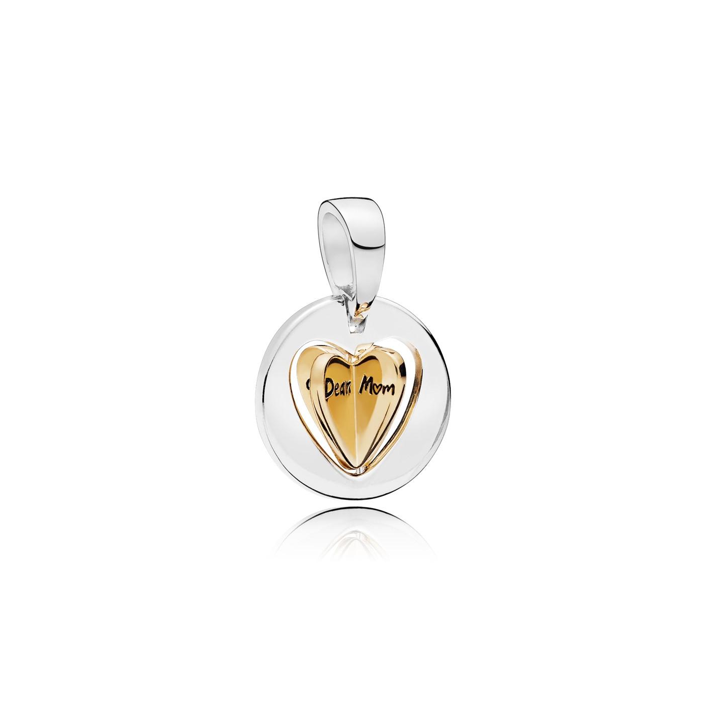 Pandora Moments 925 Sterling Zilveren Spinning Heart Bedel 767774