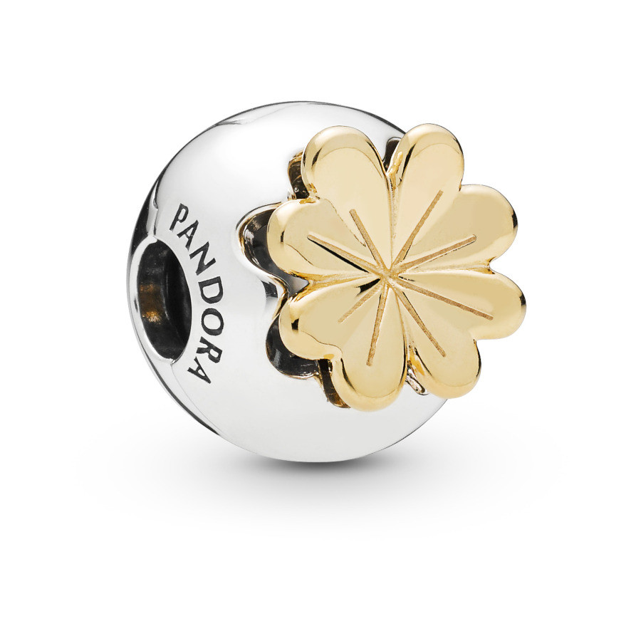 Pandora Moments 925 Sterling Zilveren Clover Shine Bedel 768000CZ