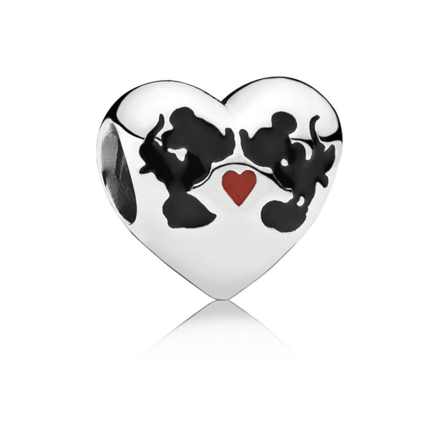 Pandora 925 Sterling Zilveren Disney Minni & Mickey Forever Bedel 791443ENMX