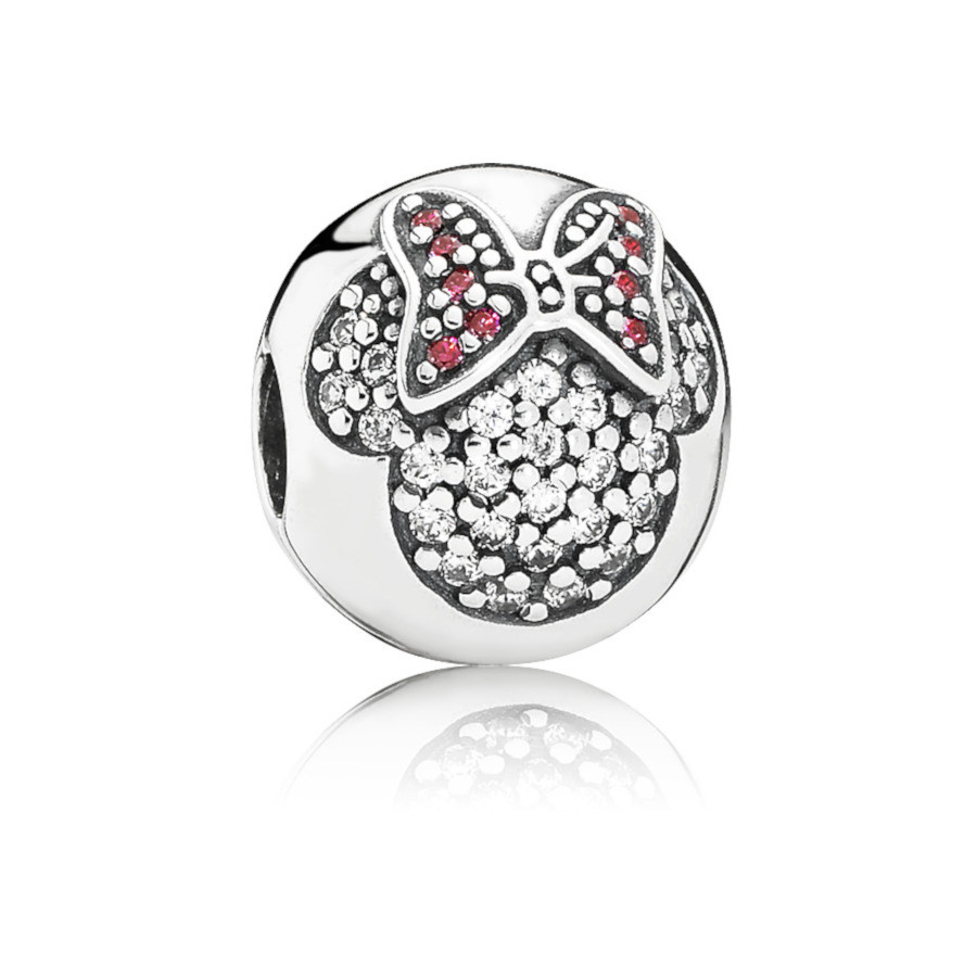 Pandora 925 Sterling Zilveren Disney Minnie Pavé Bedel 791450CZ