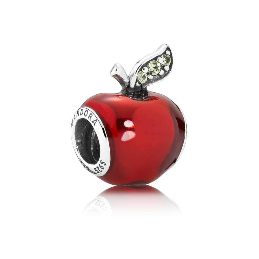 Pandora 925 Sterling Zilveren Disney Snow White's Apple Bedel 791572EN73