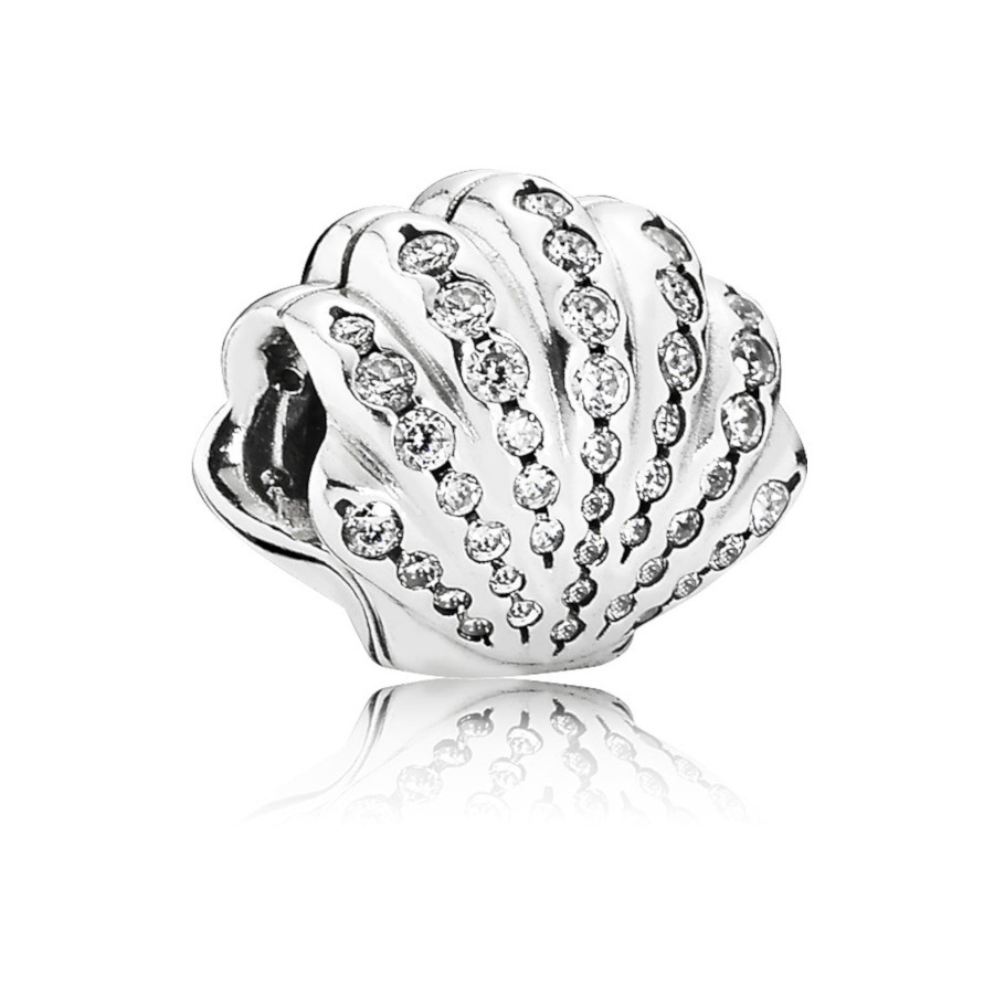 Pandora 925 Sterling Zilveren Disney Ariel Shell Bedel 791574CZ