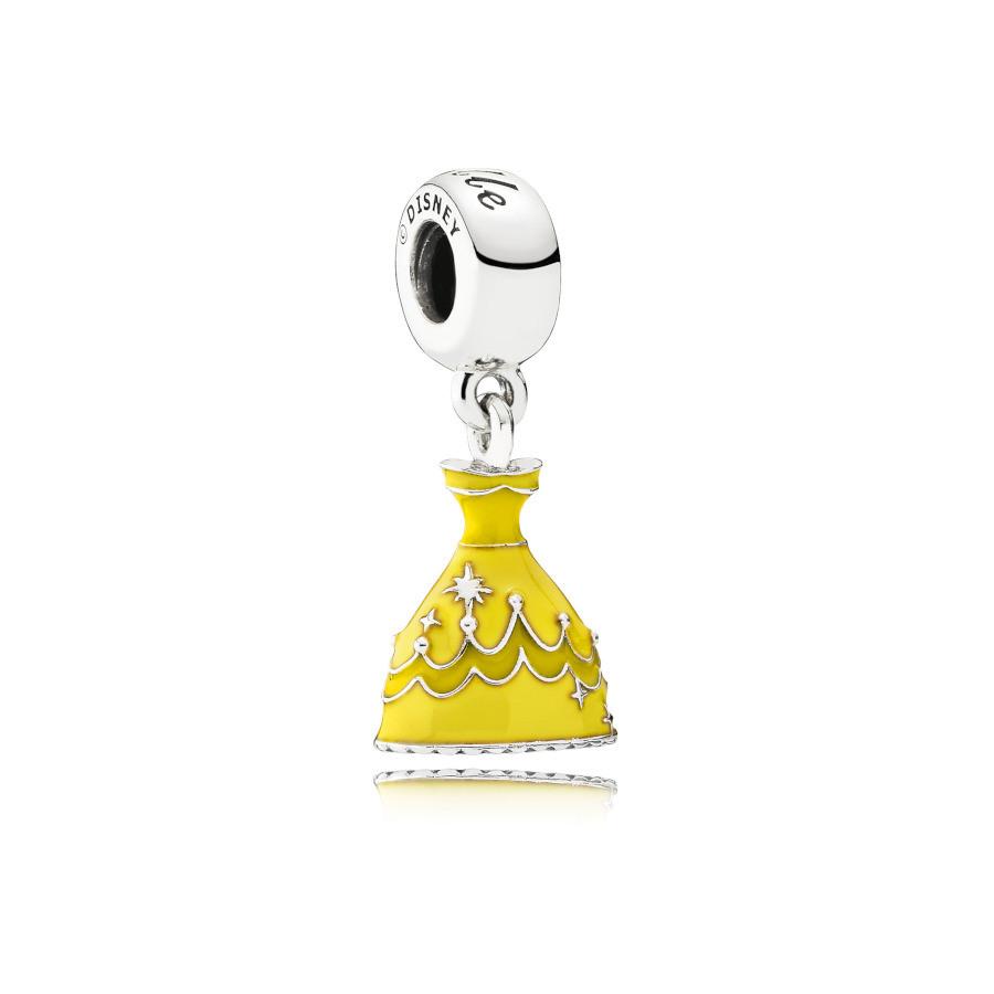 Pandora 925 Sterling Zilveren Disney Belle Dress Bedel 791576ENMX