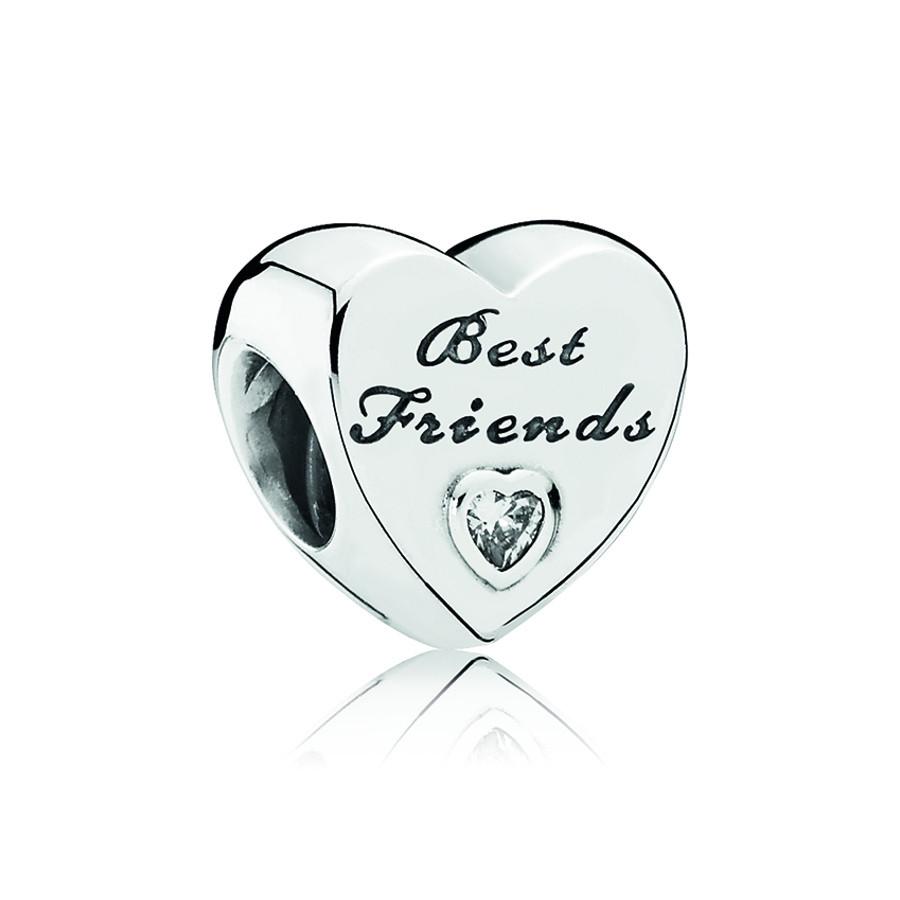 Pandora Zilveren Best Friends Heart Bedel 791727CZ