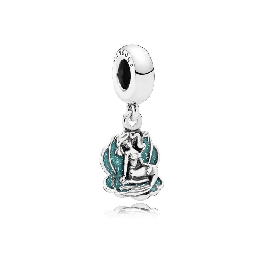 Pandora 925 Sterling Zilveren Disney Ariel & Sea Shell Bedel 791895EN111