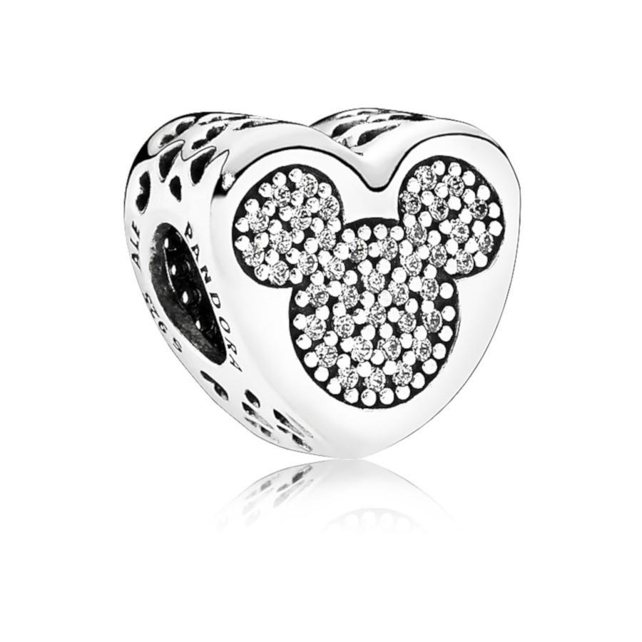 Pandora 925 Sterling Zilveren Disney Mickey & Minnie True Love Bedel 792050CZ