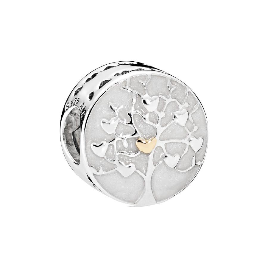Pandora Zilveren Enamel Gold Bedel 792106EN23