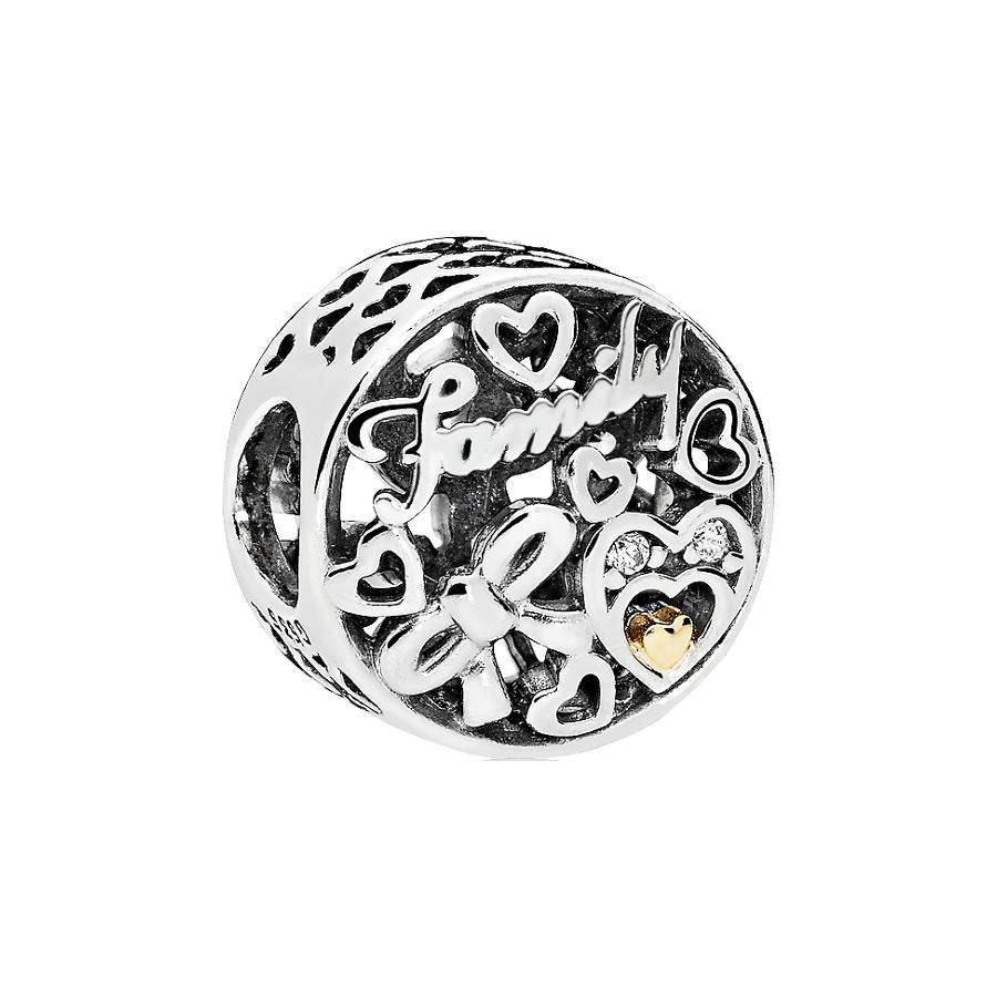 Pandora Moments Zilveren Family Tribute Bedel 796267CZ