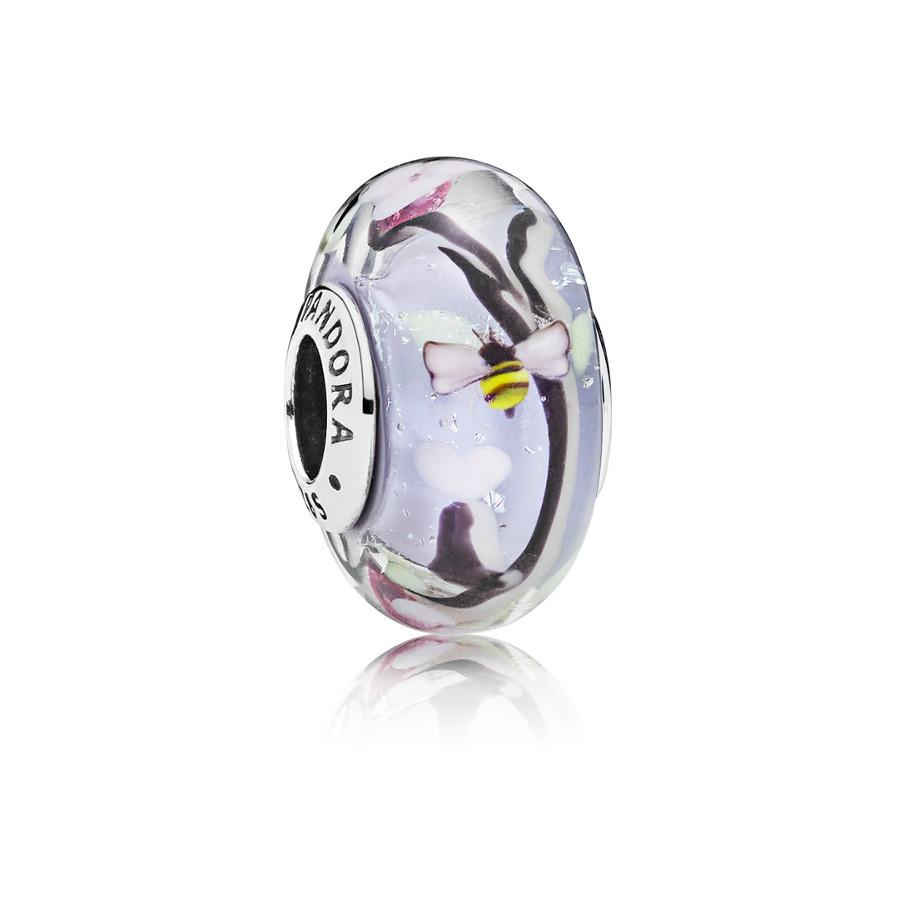 Pandora Moments Zilveren Enchanted Garden Glass Bedel 797014