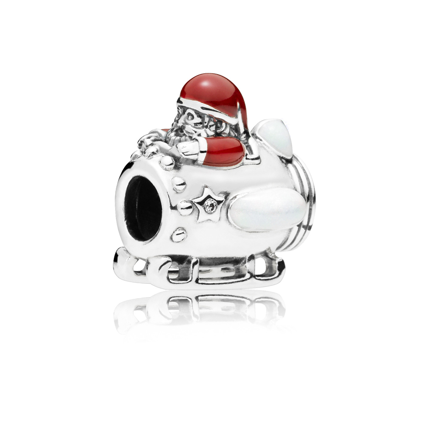 Pandora 925 Sterling Zilveren Santa in Space Bedel 797511ENMX