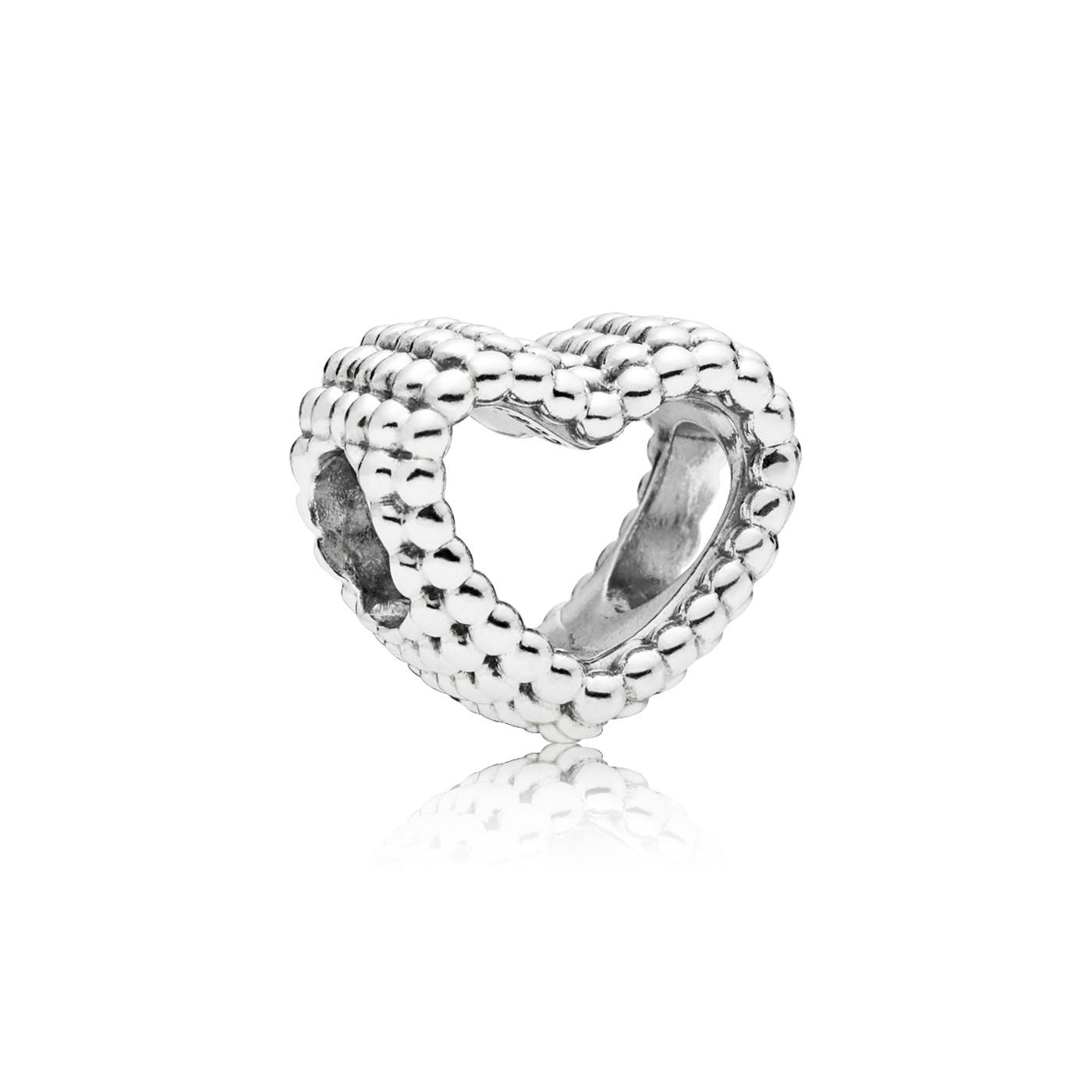 Pandora 925 Sterling Zilveren Beaded Heart Bedel 797516