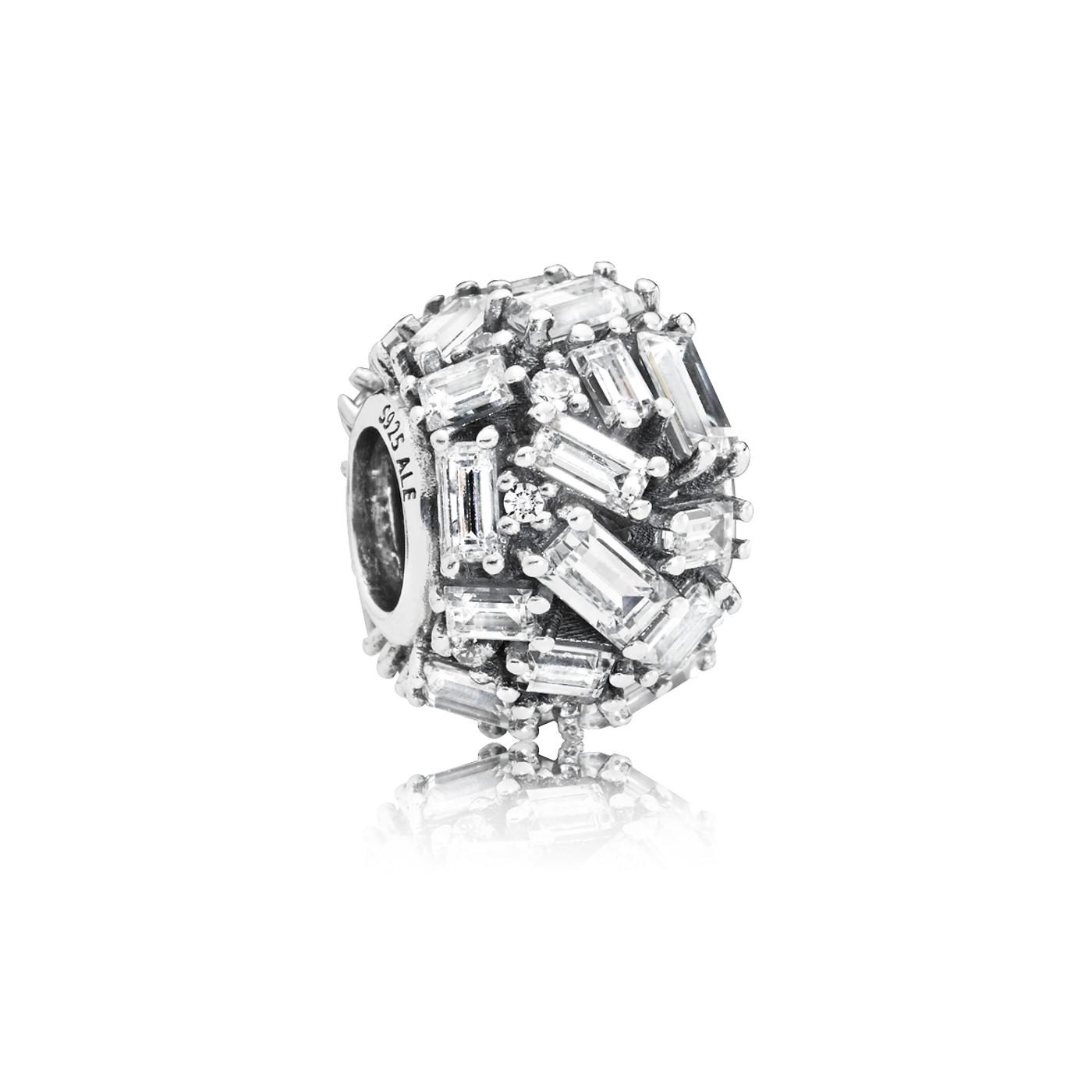 Pandora 925 Sterling Zilveren Ice Cube Bedel 797746CZ