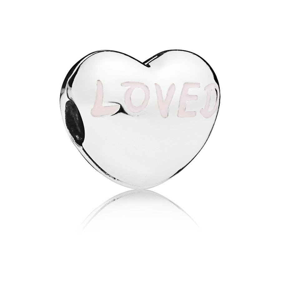 Pandora 925 Sterling Zilveren Heart Bedel 797807EN124