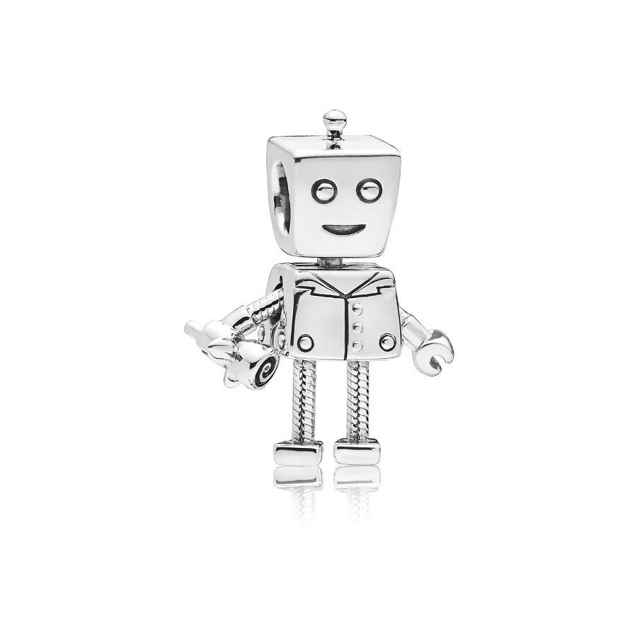 Pandora 925 Sterling Zilveren Boy Robot Bedel 797819