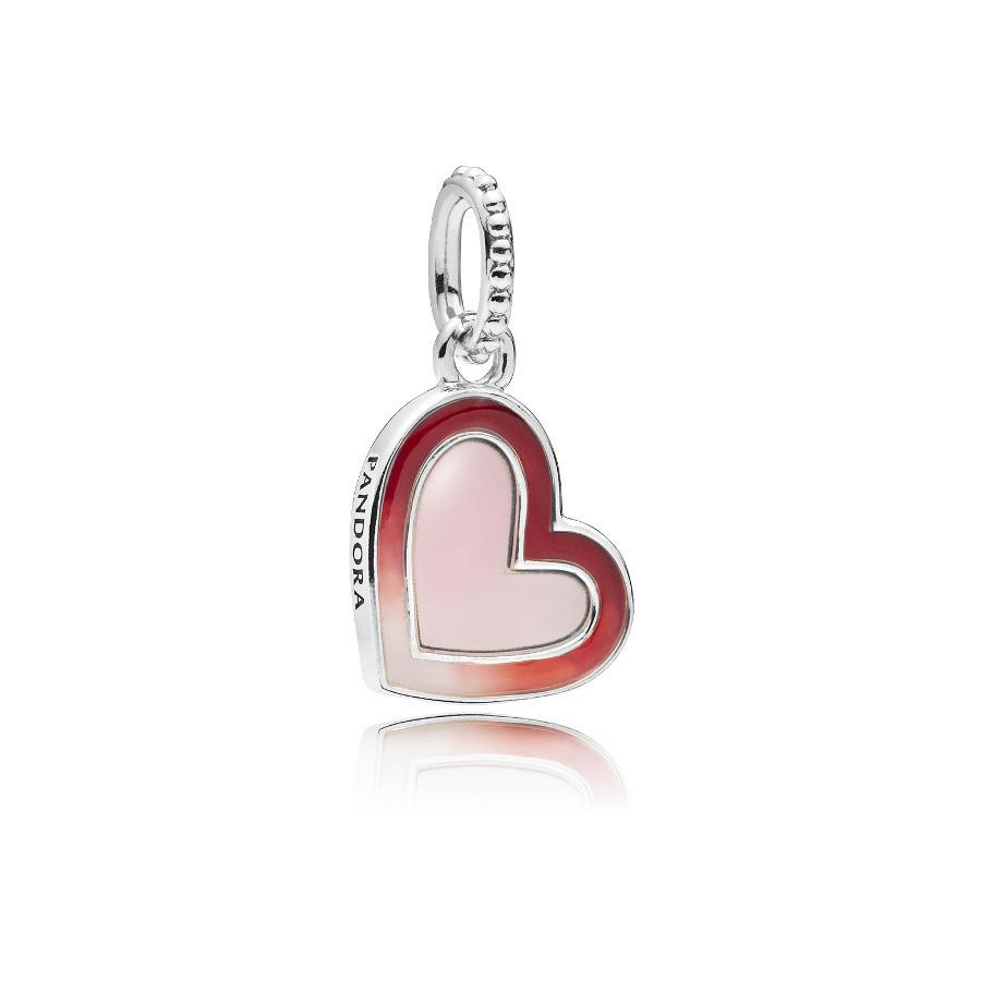Pandora 925 Sterling Zilveren Asymmetrical Heart Bedel 797820ENMX