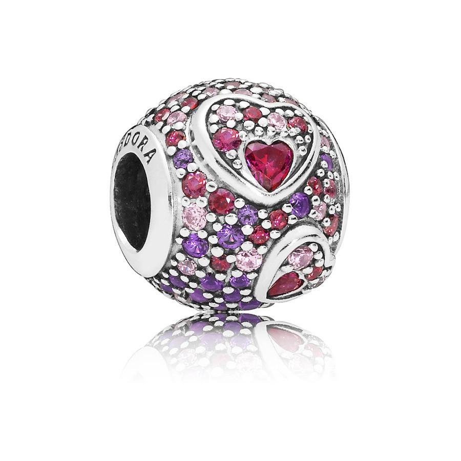 Pandora 925 Sterling Zilveren Heart Bedel 797826CZRMX