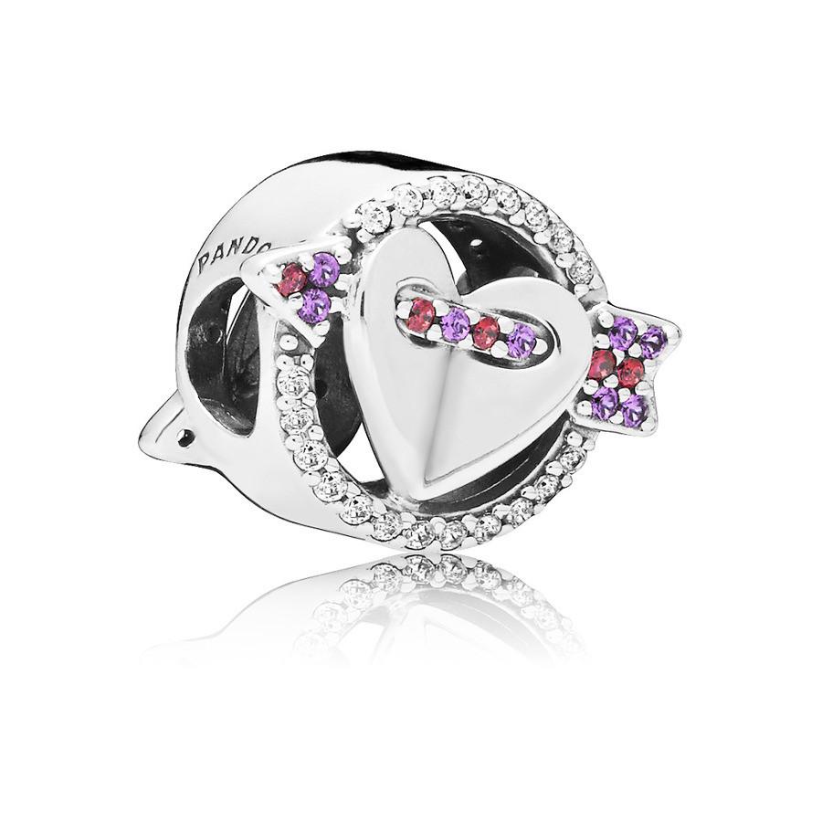 Pandora 925 Sterling Zilveren Heart Bedel 797827CZMX